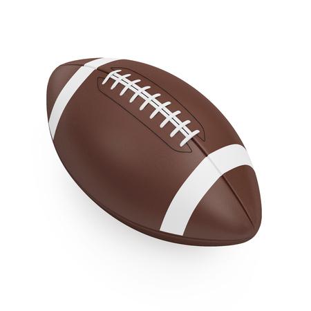 campo di calcio: Brown Rugby Ball isolato su sfondo bianco Archivio Fotografico
