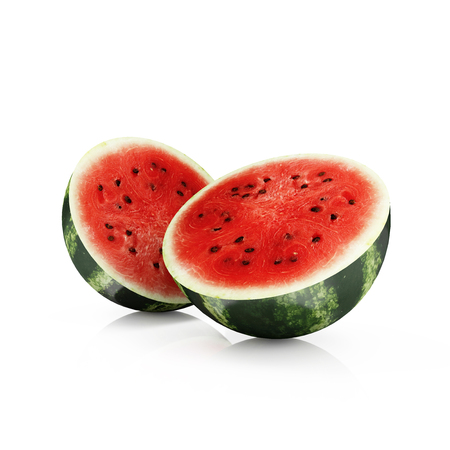 sliced watermelon: Sliced Watermelon isolated on white background