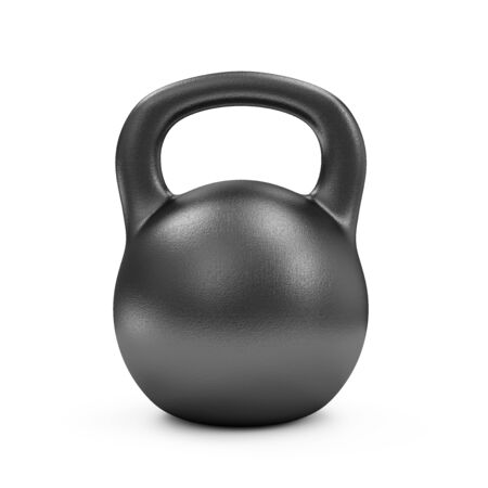 discs: Iron Dumbbell Isolated on white background. Sport and Recreation Concept. Stock Photo