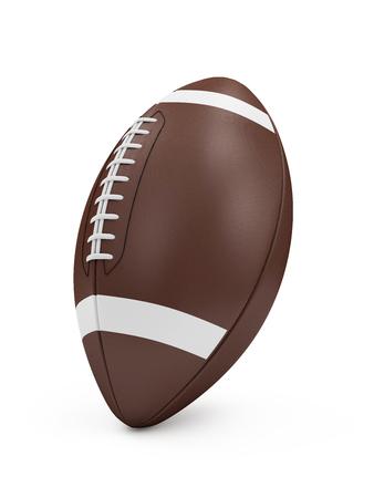 pelota de rugby: Marrón Pelota de rugby aislado en fondo blanco