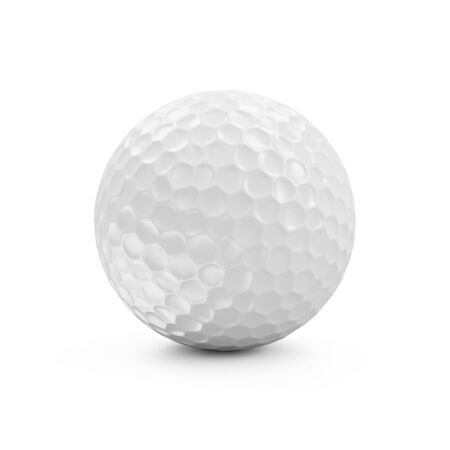 ball isolated: Golf Ball isolated on white background Stock Photo