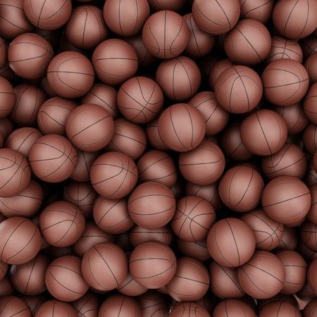 canestro basket: Mucchio di pallacanestro palle sfondo astratto