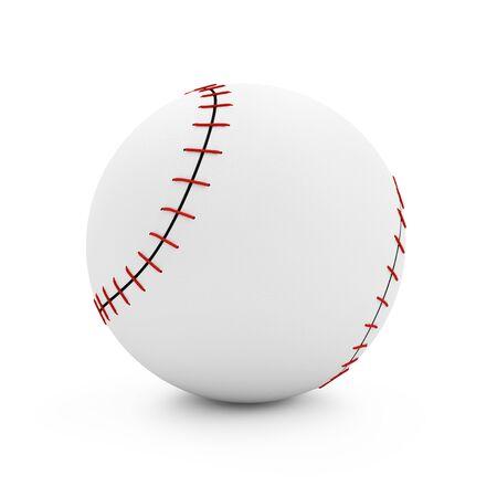 fastball: Baseball isolated on white background Stock Photo