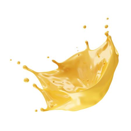 juicy: Orange Juice Splash isolated on white background