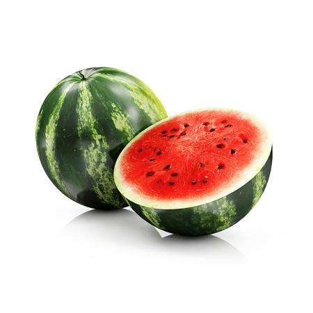 Gesneden Watermeloen op een witte achtergrond