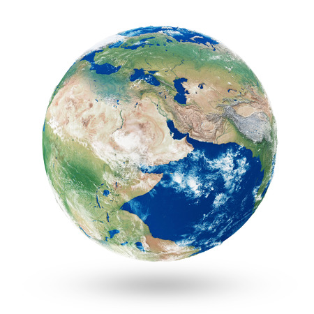 Earth Planet 200 Million Years Ago. The Pangaea Continent. Elements of this image furnished by NASA. 3D Rendering