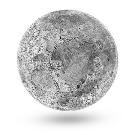 Miniaturmond-Ikone lokalisiert auf weißem Hintergrund. Elemente dieses Bildes von der NASA eingerichtet. 3D-Rendering Standard-Bild - 73060974