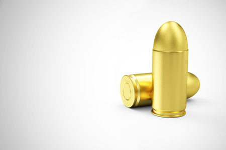 9mm ammo: Group of Gun Bullets 9mm on gradient background. Military Weapons Concept