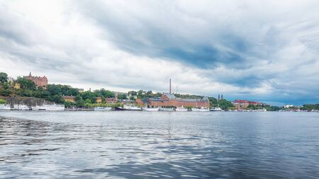 Stockholm Old Town City View Landscape Stok Fotoğraf