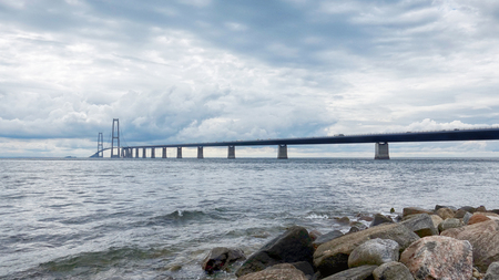 Big Belt Bridge multi-element fixed link crossing between the Danish islands