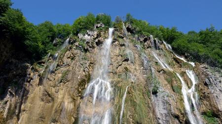 Scenic waterfalls at Plitvice Lakes National Park, Croatia