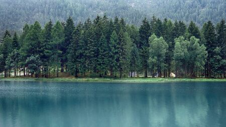Beautiful tranquil scene of lake in mountains Stok Fotoğraf