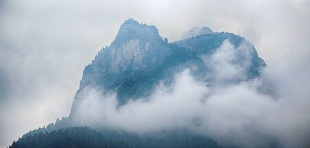 Close-up View of Amazing Mountain Peak in Alps