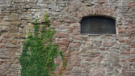 The Brick Wall of Borgholm Castle on Oland, Sweden. 版權商用圖片