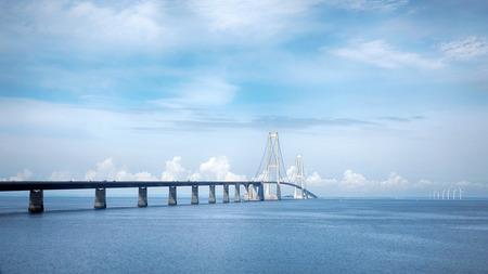 Big Belt Bridge multi-element fixed link crossing between the Danish islands
