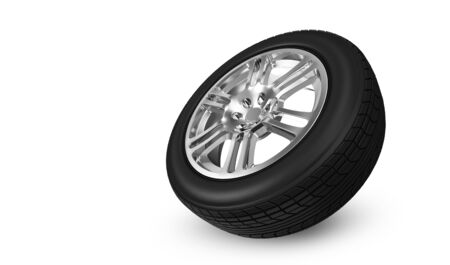 Car Wheel isolated on white