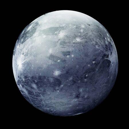 Pluto Planet Isolated on black Stok Fotoğraf - 146347751
