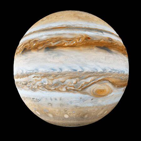 Jupiter Planet Isolated on black