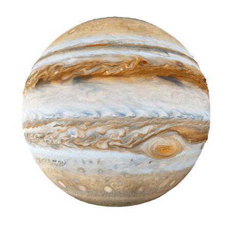 Jupiter Planet Isolated on white Stok Fotoğraf