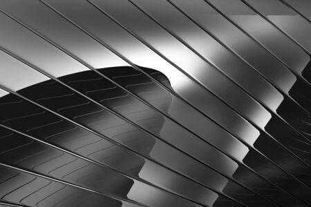 Abstract Black Reflective Foto de archivo