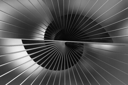 Abstract Black Reflective