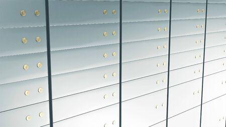 Close-up View of Deposit Bank Safe. Stok Fotoğraf