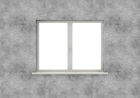 Window isolated on white background. 3D Rendering