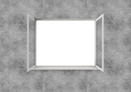 Open Window isolated on white