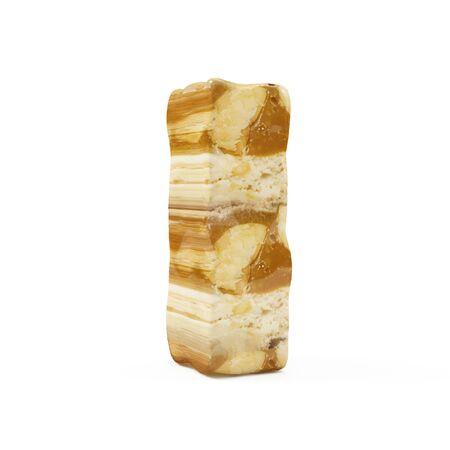 Caramel Peanut Alphabet isolated on white (Letter I). 3D Rendering Stok Fotoğraf - 146650579