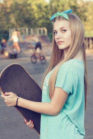 Close-up van de tiener meisje gezicht