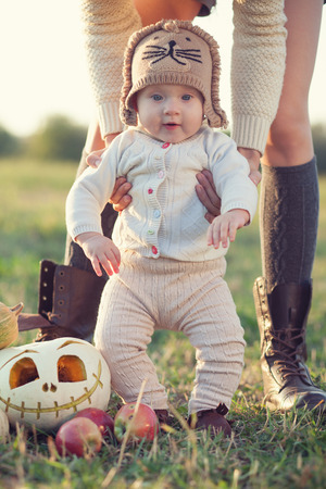 Stylish baby fall look photo