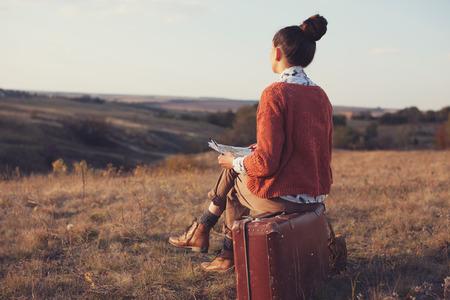 Módní umělec v hoře Reklamní fotografie