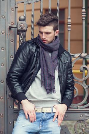 Fashionable man posing in old city Reklamní fotografie