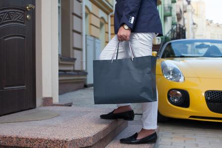 Rich man entering house Reklamní fotografie