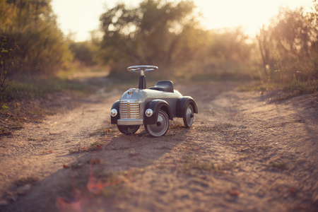 Tiny rider toy car outdoors