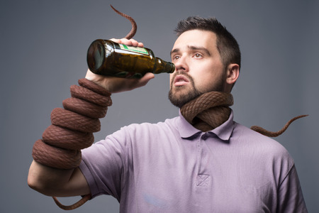 unhealthy thoughts: alcoholism concept art