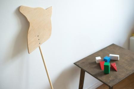 Wooden toys in children room