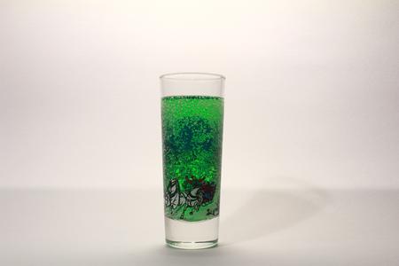 alcoholic beverage: stack drink alcoholic beverage on white background