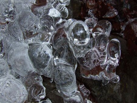 crystals of ice that form queer pattern