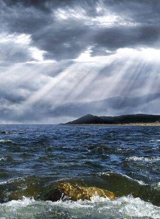 Sturm über dem Meer