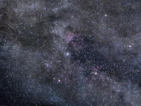Imagen Astronómica del rico campo de estrellas en la constelación del Cisne