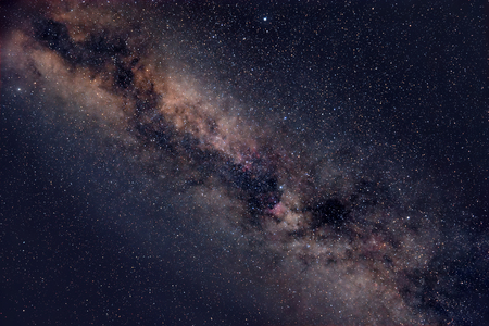 stargazing: Beautiful night sky with Milky Way and myriads of stars