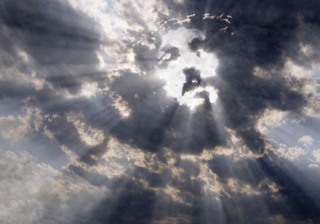 Face of Christ in the sky