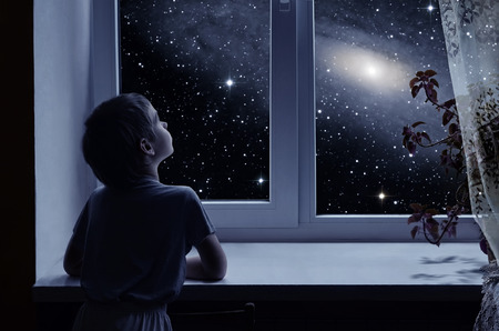子供の想像力 写真素材