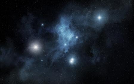 Blue space nebula Stock fotó