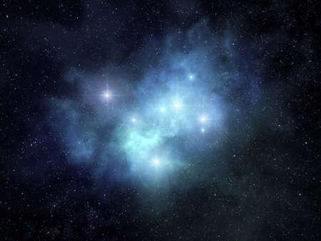 Fancy looking nebula glowing among bright stars Stock fotó