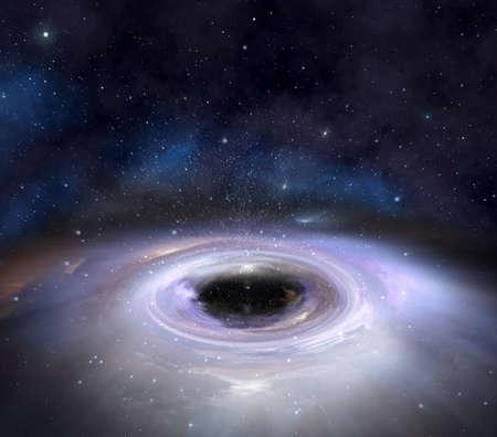 Black hole attracting interstellar matter and stars