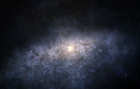 Illustration of Milky Way galaxy as seen from the edge Stock fotó