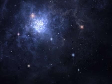 Interstellar cloud of gas is glowing deep in space Stock fotó
