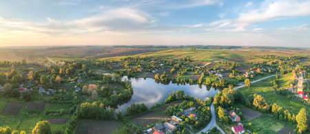 Aerial view of the picturesque village